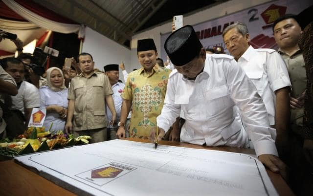 Prabowo Resmikan Kantor DPD Gerindra di Banten