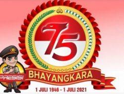 TUJUH PATI POLISI NAIK PANGKAT MOMEN HUT KE-75 BHAYANGKARA